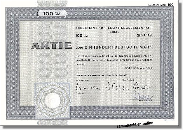 Orenstein & Koppel AG