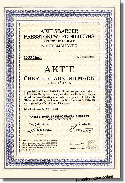 Akelsbarger Presstorfwerk Sieberns AG