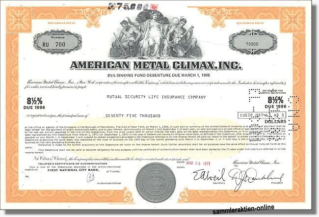 American Metal Climax Inc.