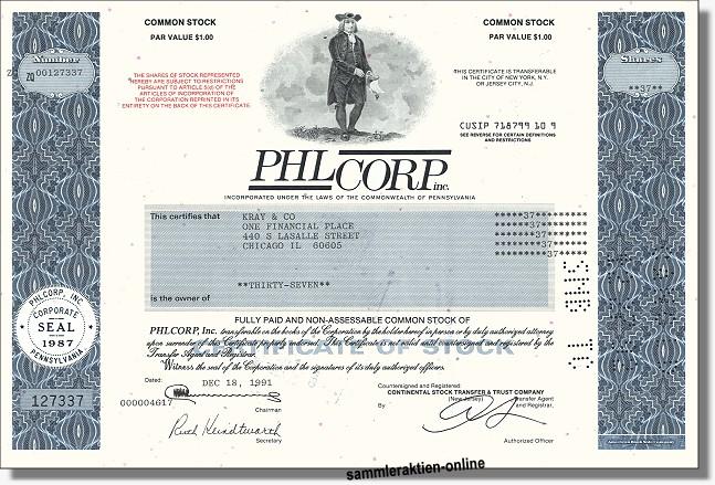 PHL CORP Inc.