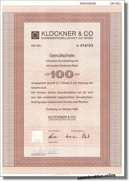 Klöckner & Co. KGaA