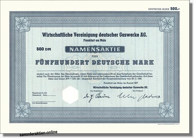 Wirtschaftliche Vereinigung deutscher Gaswerke AG