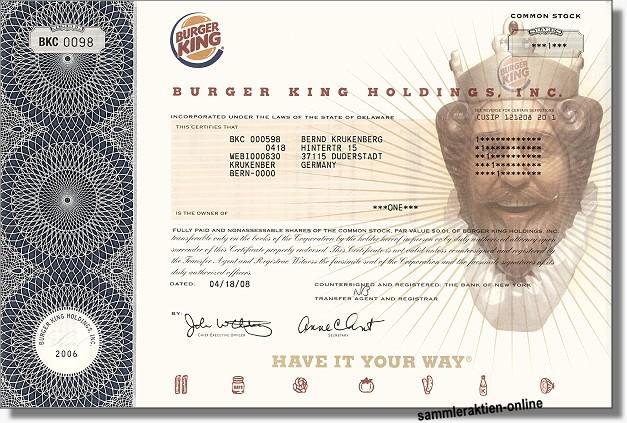 Burger King Holdings Inc.