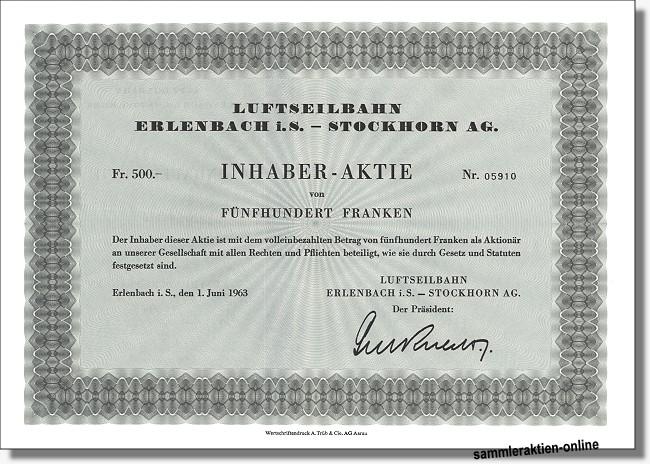 Luftseilbahn Erlenbach i.S. - Stockhorn AG
