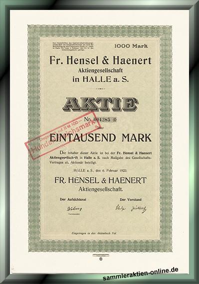 Fr. Hensel & Haenert AG