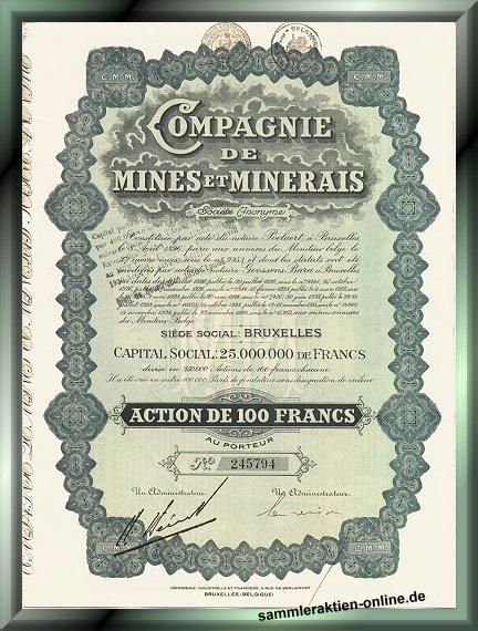 Compagnie de Mines et Minerales