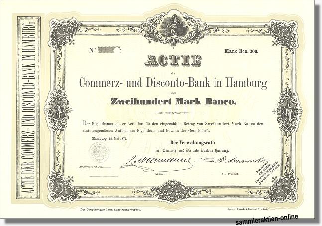 Commerz- und Diskonto-Bank, Commerzbank