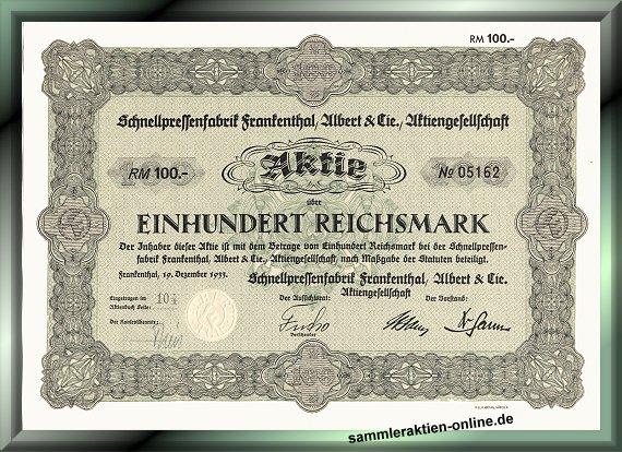 Schnellpressenfabrik Frankenthal Albert & Cie.