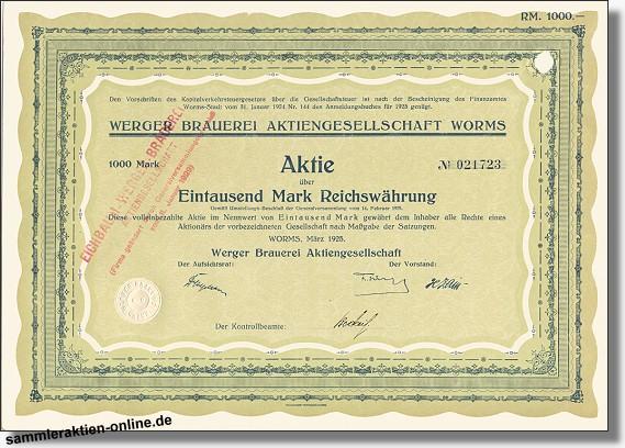 Werger Brauerei AG<br>Eichbaum-Werger Brauerei