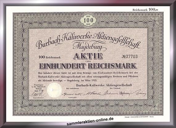 Burbach-Kaliwerke AG - später Kali & Salz