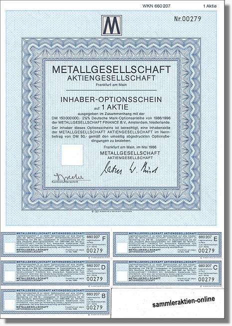 Metallgesellschaft AG