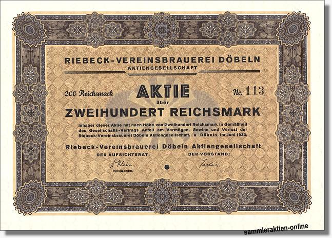 Riebeck-Vereinsbrauerei Döbeln