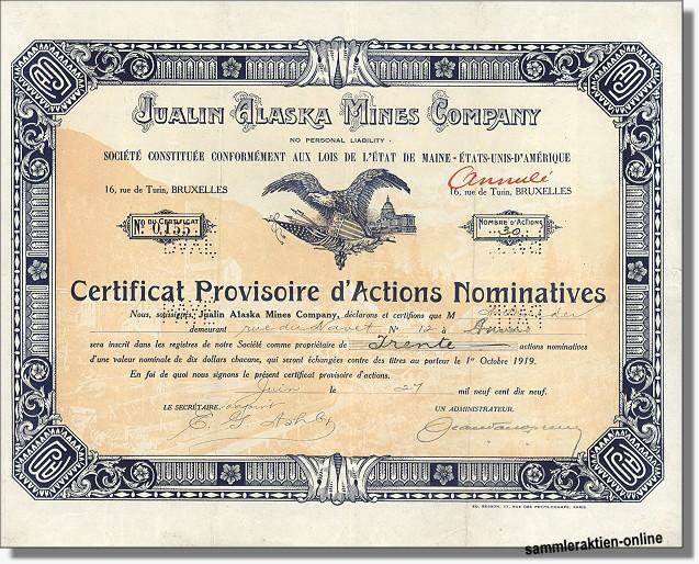 Jualin Alaska Mines Company