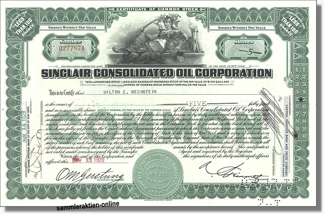 Sinclair Consolidated Oil Corporation