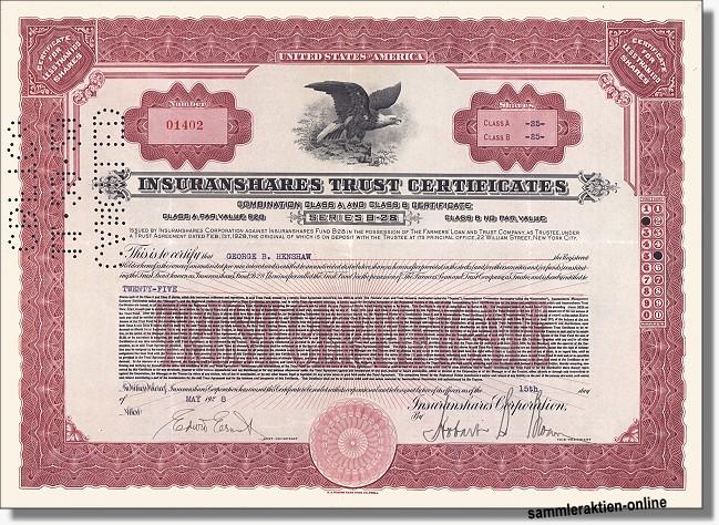 Insuranshares Trust Certificates