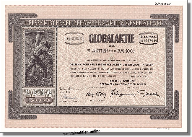 Gelsenkirchener Bergwerks-Aktiengesellschaft - VEBA