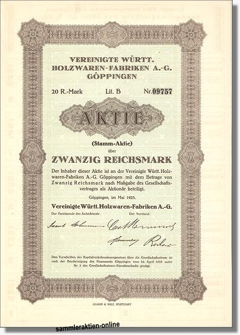 Vereinigte Württ. Holzwaren-Fabriken AG