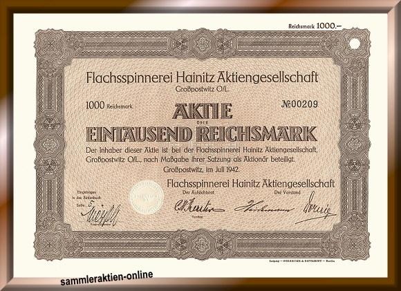 Flachsspinnerei Hainitz AG