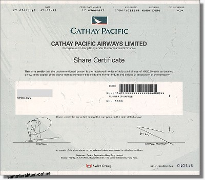 Cathay Pacific Airways Limited