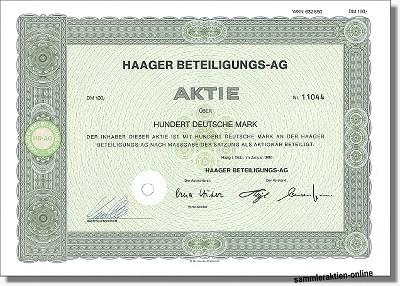 Haager Beteiligungs-AG
