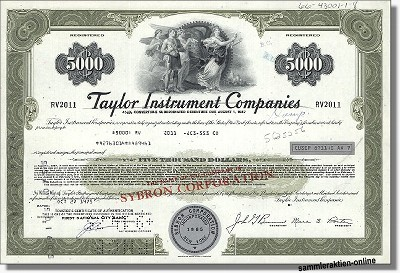 Taylor Instrument Companies - Sybron Corporation