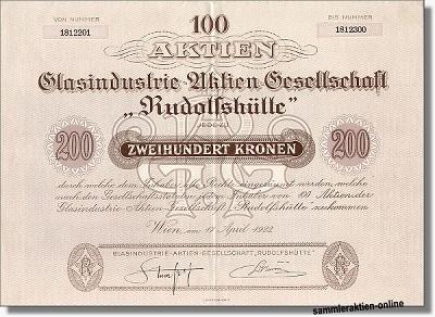 Glasindustrie AG Rudolfshütte
