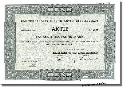 Zahnräderfabrik Renk Aktiengesellschaft