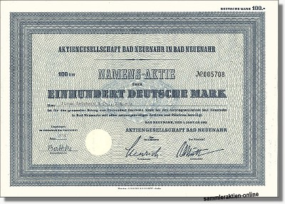 Aktiengesellschaft Bad Neuenahr in Bad Neuenahr