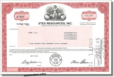 XTEX Resourses Inc.