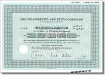 ZWL Grundbesitz- und Beteiligungs-AG vorm. Ziegelwerke - 8er Satz