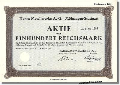Hansa Metallwerke AG