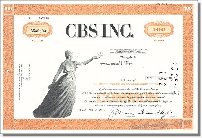 CBS Incorporation - Columbia Broadcasting System
