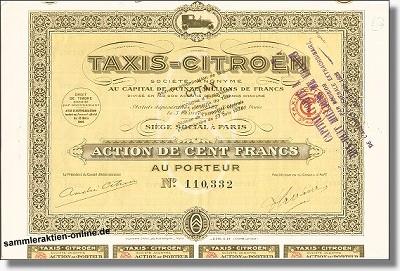 Citroen, Taxis-Citroën