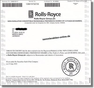 Rolls Royce Group Plc.