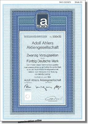 Ahlers Adolf Aktiengesellschaft