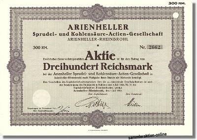 Arienheller Sprudel- und Kohlensäure-Actien-Gesellschaft