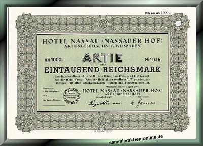 Hotel Nassau (Nassauer Hof) Aktiengesellschaft