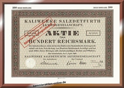 Kaliwerke Salzdetfurth Aktiengesellschaft