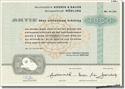 Maschinenfabrik Koenig & Bauer AG Mödling