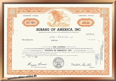 Subaru of America Inc.