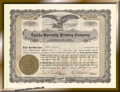 Eureka Speciality Printing Company