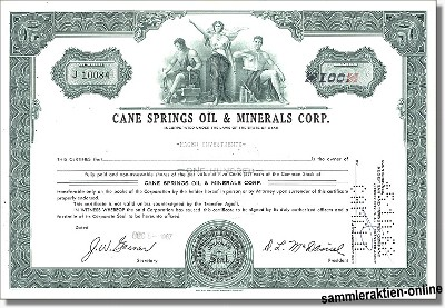 Cane Springs Oil & Minerals Corp.