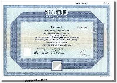 Sedlbauer Aktiengesellschaft