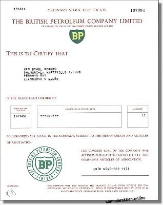 BP Britisch Petroleum Company Limited