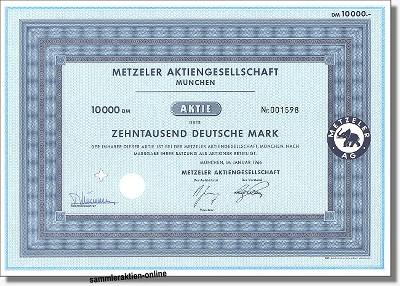 Metzeler Aktiengesellschaft
