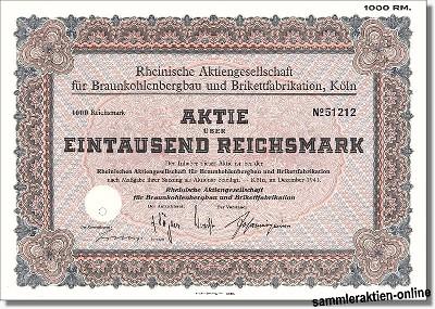 Rheinische Aktienges. für Braunkohlenbergbau und Brikettfabrikation