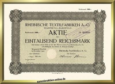 Rheinische Textilfabriken AG