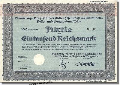 Simmering-Graz-Pauker Aktiengesellschaft für Maschinen- Kessel- und Waggonbau