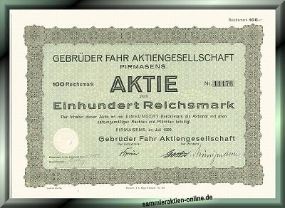 Gebrüder Fahr AG