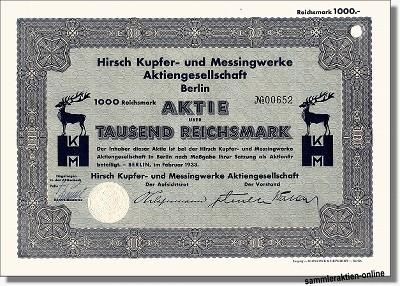 Hirsch Kupfer- und Messingwerke AG